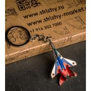 """Брелок 3D эмалированный МиГ-29""""Стрижи"""""""