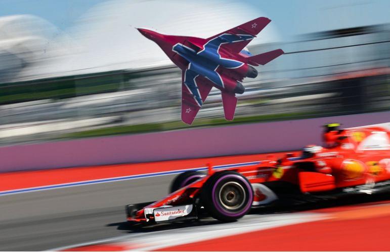 Пилотажная группа Стрижи в Сочи на «Формула-1»