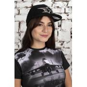 Хип-хоп бейсболка черная с символикой Стрижи