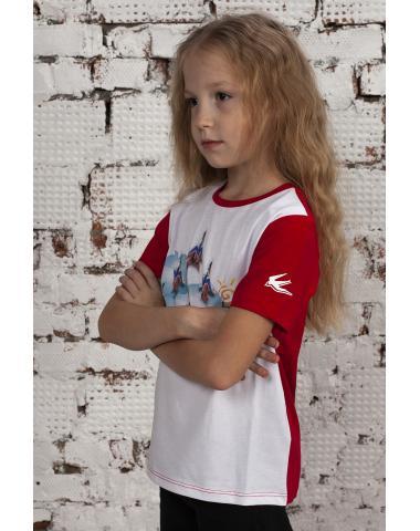 Футболка детская красная МИГ-29 Стрижи
