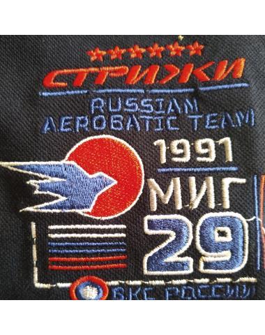 Футболка-поло МИГ-29 с логотипом Стрижи