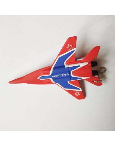 Сувенирный брелок самолет МИГ-29 Стрижи на 64Gb